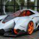Огненная Lamborghini Egoista посетила выставку в Италии
