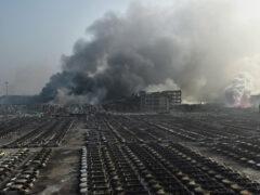 Новый взрыв прогремел на месте техногенной аварии в Тяньцзине