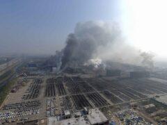 В китайском Тяньцзине вновь произошли взрывы