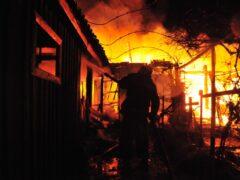 Под Рязанью горит село