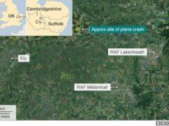 Самолет ВМС США разбился в Великобритании, пилот погиб