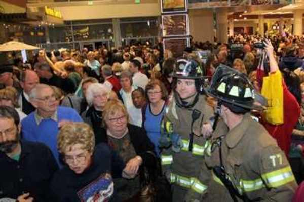 эвакуация в ТЦ
