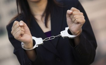 девушка задержана