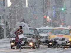 В Японии на острове Амами-Осима снег выпал впервые за 115 лет