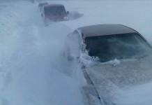 трасса снег