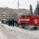 В Москве Mercedes врезался в спешившую на вызов пожарную машину