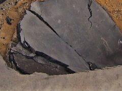 На северо-западе Москвы произошел провал грунта на проезжей части