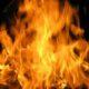 В Северодвинске произошел пожар в расселенном двухэтажном доме