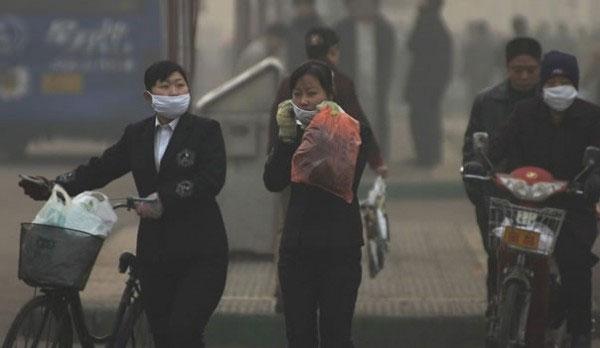 грязный воздух в Китае