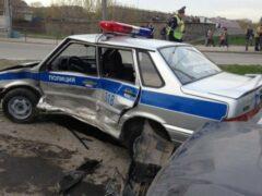 Пьяный полицейский протаранил патрульную машину на юго-востоке Москвы