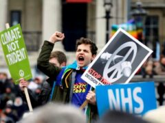 В Лондоне десятки тысяч человек вышли на митинг против системы Trident