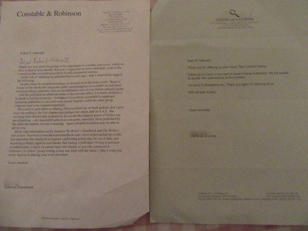 Джоан Ролинг опубликовала письма с отказами