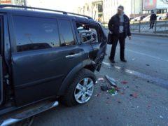Автоледи устроила массовую аварию на юге Петербурга