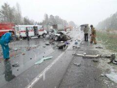 На нижегородской трассе трое погибли в разбившемся микроавтобусе