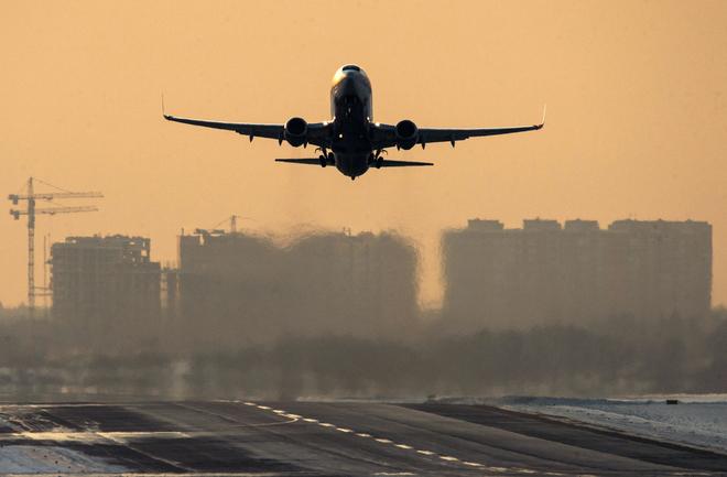самолет приземление