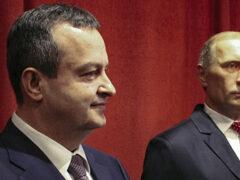 Дачич передал Рогозину фото восковой фигуры Путина