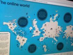В Британии составлена карта мира по количеству интернет-доменов