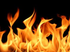 В Новокузнецке ночью горел автомобиль Infiniti QX50