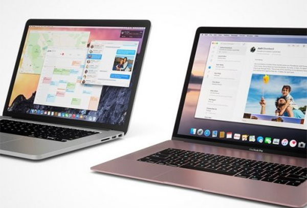 MacBook Pro в розовом цвете