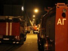 На улице Калинина в Петербурге сгорел частный дом