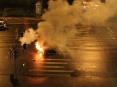 Петербург: После ДТП взорвался автомобиль на Политехнической