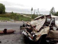 Петербург: «Жигули» разбились в аварии с фурой на Пушкинском шоссе