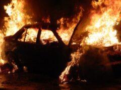 В Марий Эл ночью сгорела иномарка