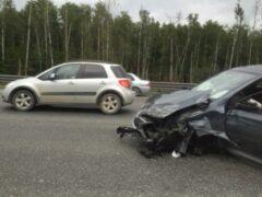 Петербург: Авария с двумя иномарками собрала пробку на КАД