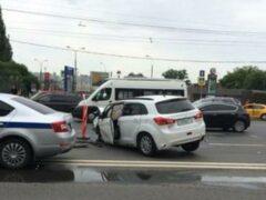 В Москве из-за крупного ДТП заблокировано движение на Садовом кольце