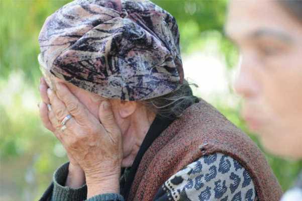 пенсионерка плач
