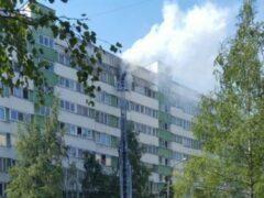 В Петербурге горела трехкомнатная квартира