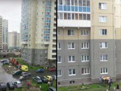 В Петербурге спасали стоявшего на подоконнике шестого этажа ребенка