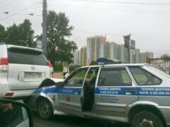 В Купчино произошло ДТП с участием полицейского автомобиля