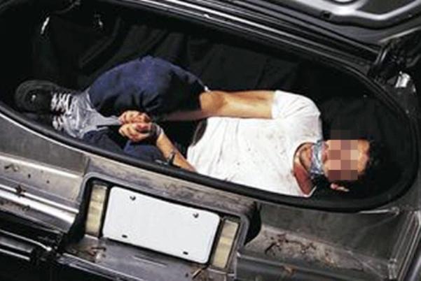 похитили багажник