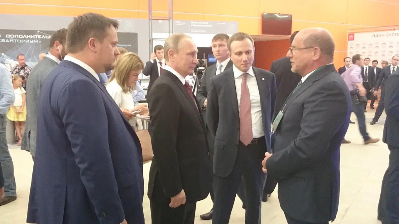 Президент Путин поддержал компанию «Интерскол»