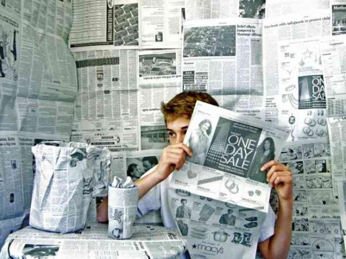 газеты юноша
