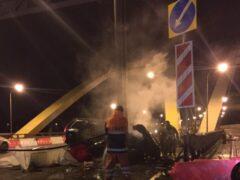 В ночном ДТП на ремонтируемом участке КАД погиб пассажир Volvo