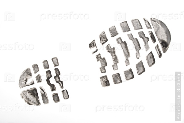 след ботинка