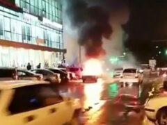 В Краснодаре вспыхнул и выгорел дотла ВАЗ-2107