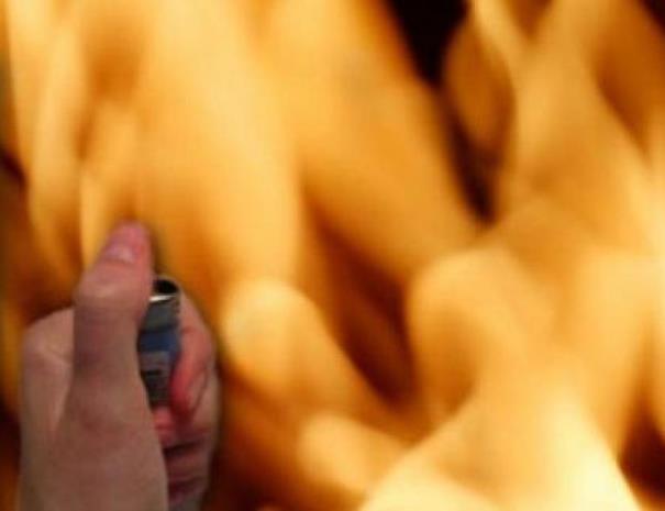 поджег зажигалка огонь