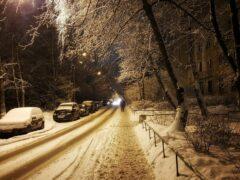На трассе «Барнаул-Новосибирск» буран развернул фуру поперек дороги