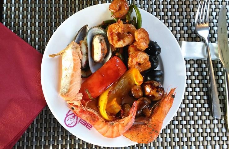 __еда вкус морепродукты креветки мидии