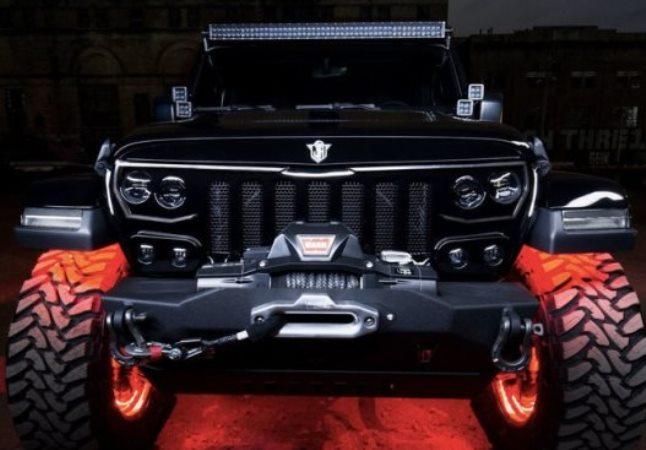 Jeep Wrangler, светодиодная решетка