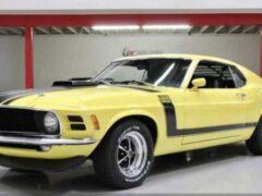 Ford Mustang Boss 302 1970 года выставили на торги в США