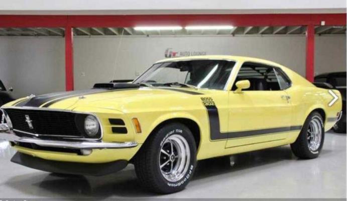 Ford Mustang Boss 302 1970 года