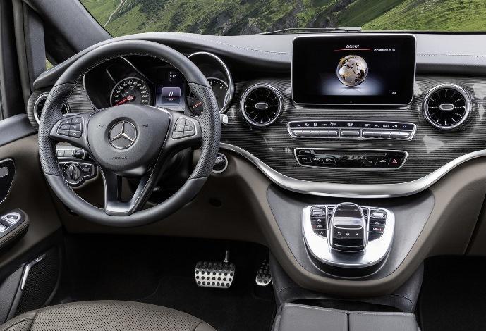 Mercedes-Benz V-Class, система MBUX