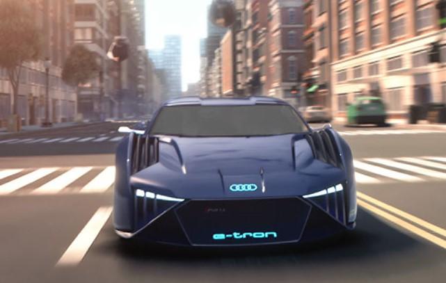 Audi RSQ e-tron, концепт-кар для мультфильма