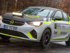 Opel вывел на тесты электрический раллийный автомобиль Corsa-e