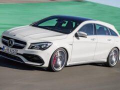 Mercedes-Benz CLA в кузове купе и универсал тестируют в Швеции