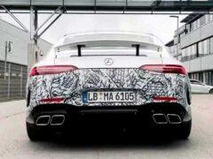 Mercedes-AMG опубликовал тизер на новейший GT 73
